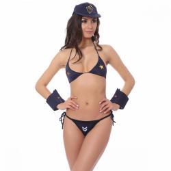 Si buscas Sexy Disfraz De Policia Para Dama Boina Brassiere Tanga Puño puedes comprarlo con BOUTIQUE EUNICE LENCERIA está en venta al mejor precio