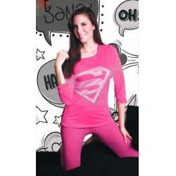 No te quedes sin el tuyo, compraron  Pijama Para Dama Superman Dc Comics Blusa Y Legging 1601  en  Mexico,  compralo antes de que se agoten