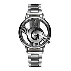 Fashion Music Note Notation Watch Stainless Steel Wristwatch