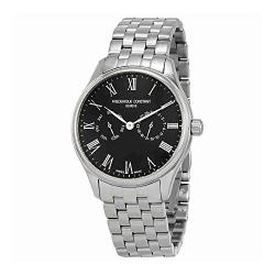 Frederique Constant Mens Classic Black Dial Bracelet Watch F