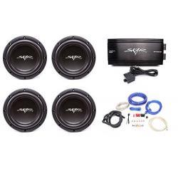 Skar Audio 4x Vvx-8v3 D4 800 Watt Subwoofers With Rp-1500.1d