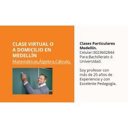 Si buscas Clases Virtuales Y Particulares:Càlculo,Matemàtica,Àlgebra.En Medellìn puedes comprarlo con eldocente2020 está en venta al mejor precio