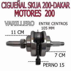 Si buscas Cigueñal Completo Dakar Skua 200 Y Mas Solo En Fas Motos puedes comprarlo ya, está en venta en Argentina