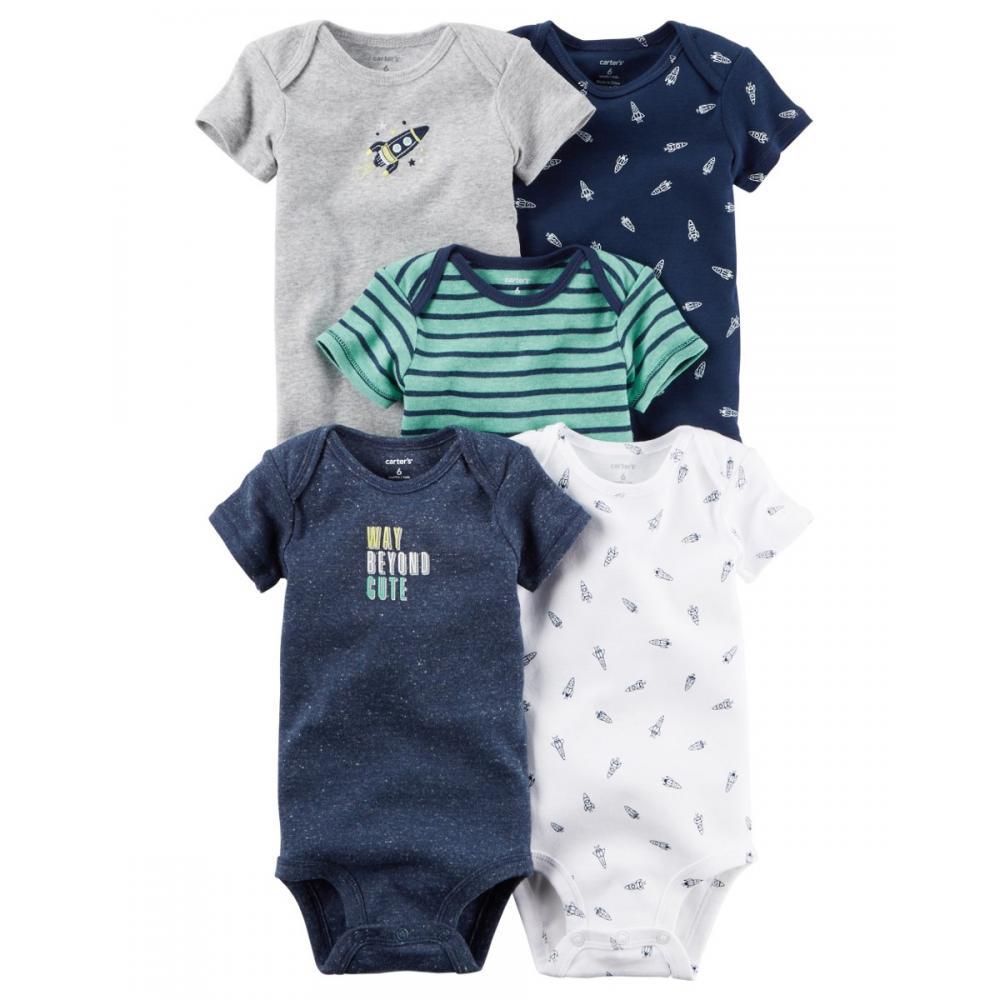9dfb5d96a09 Set Body Carters X5 Pzas Para Bebe Niño Ropa Carter Original en ...