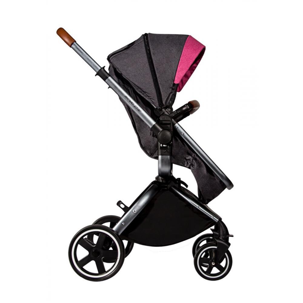 7f69d2467 Coche Travel System Con Moises Silla Carro 360 Bebesit Rosa
