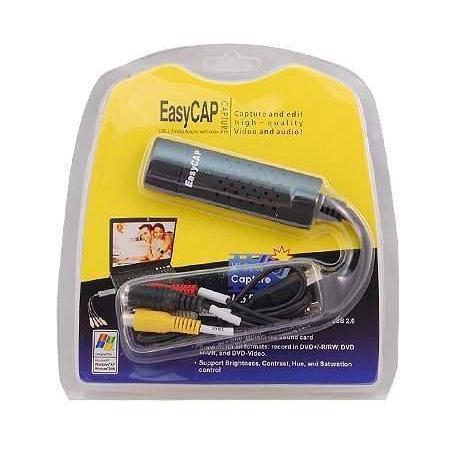 Si buscas Easycap Tarjeta Capturadora Usb 2.0 Rca S-video Video puedes comprarlo con SLIM_COMPANY está en venta al mejor precio