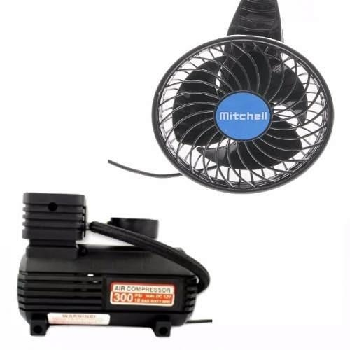 Pack Ventilador 360º Aire Frio Compresor Auto Y Moto 6volt En