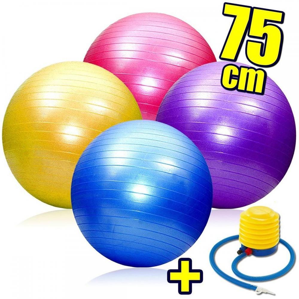 Pelota De Pilates 75cm Fitness Yoga Gym + Inflador - El Rey en Tres ... 1cb290419ca5