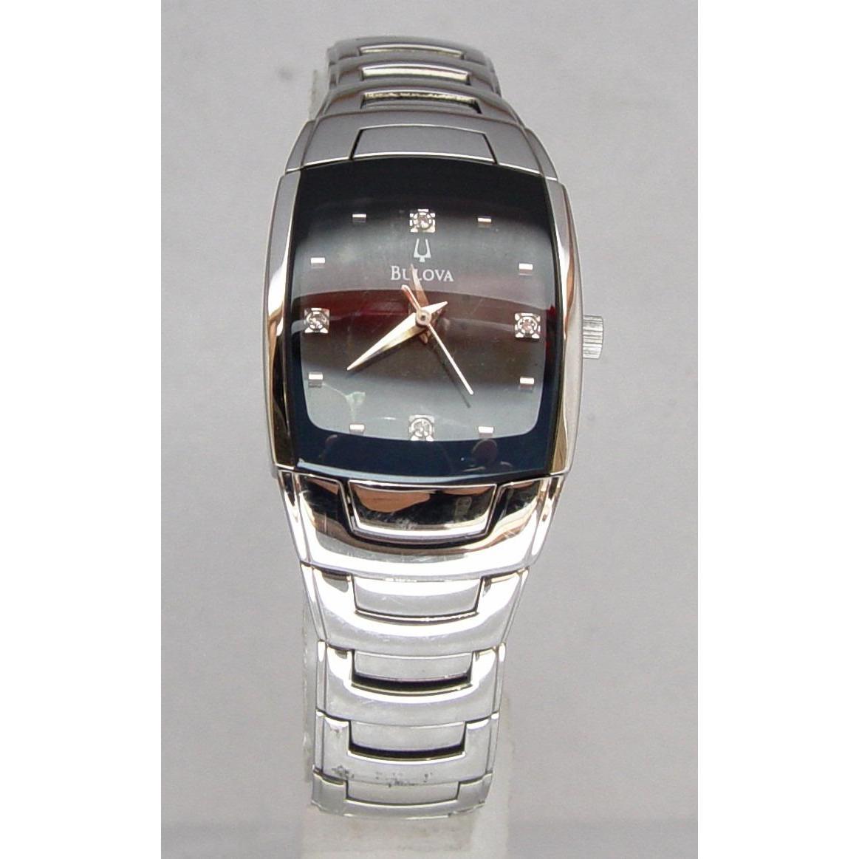 Reloj Bulova Mujer 4 Diamantes 96p15 Metálico. en Buga 9c812ca91637