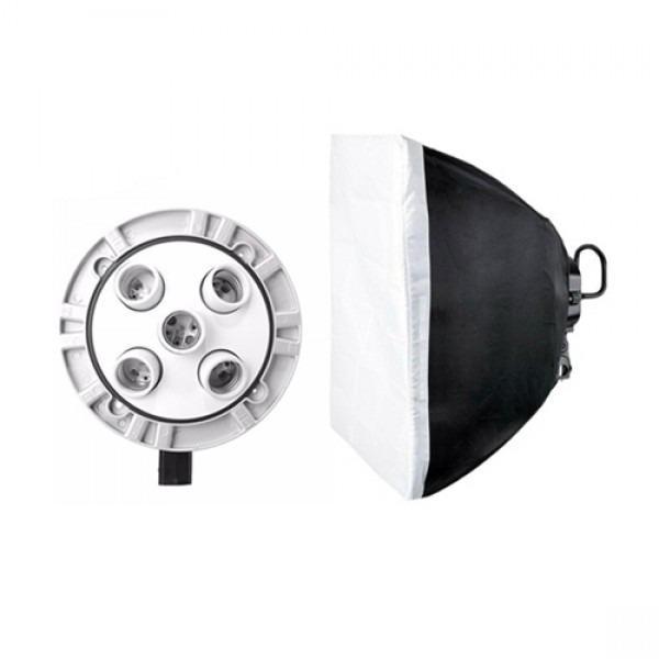 Si buscas Kit De Iluminación Continua Tl-5 Con Softbox Y Socket Godox puedes comprarlo con PROFOTOMX está en venta al mejor precio