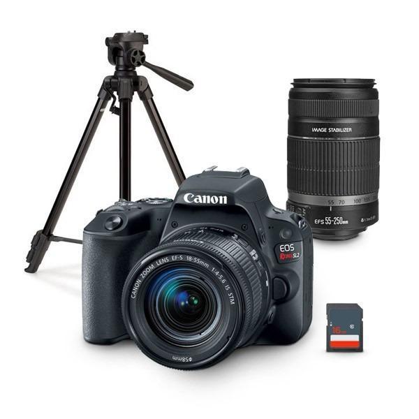 Si buscas Kit Canon Eos Rebel Sl2 Con 2 Lentes + Tripie Y Memoria puedes comprarlo con PROFOTOMX está en venta al mejor precio