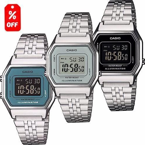 2fa37d058446 Reloj Dama Casio Retro Vintage La680 Plata - Original Cfmx en ...
