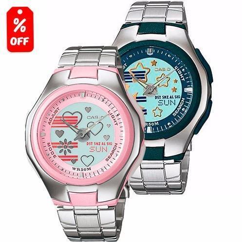 c6845bfe6613 Reloj Dama Casio Poptone Lcf10 Metal - Wr 50m - Cfmx en Gustavo A ...