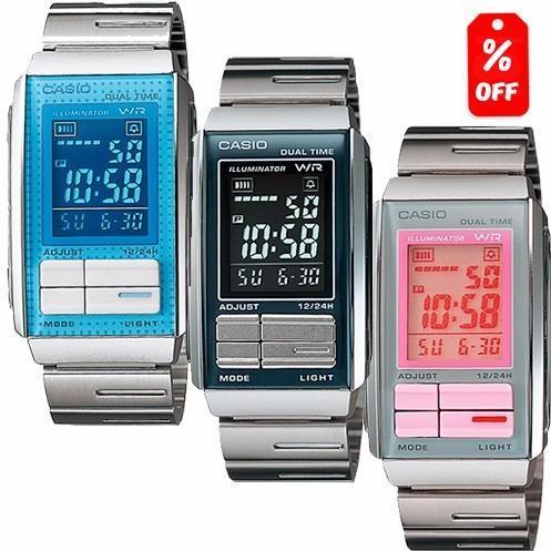 Si buscas Reloj Dama Casio La201 Extensible Metal- Cronómetro- Cfmx - puedes comprarlo con CFMX está en venta al mejor precio