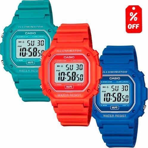1e00c6d7a967 Reloj Casio Retro Vintage F108 - Colores Brillantes - Cfmx en ...