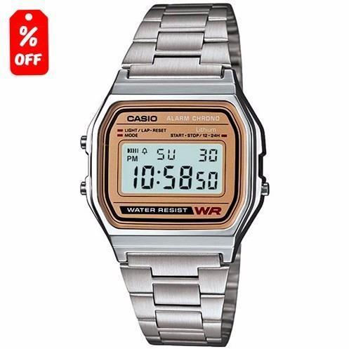 Si buscas Reloj Casio Retro Vintage A158 Plata Cara Dorada - Cfmx puedes comprarlo con CFMX está en venta al mejor precio