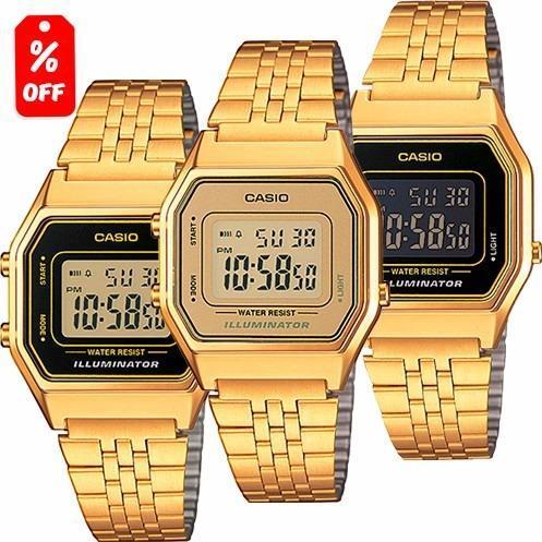 446de852a72a Reloj Dama Casio Retro Vintage La680 Flores Dorado - Cfmx en Gustavo ...
