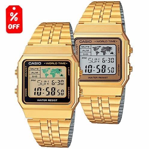 f5a81dd92632 Reloj Casio Retro Vintage A500 Dorado - 100% Original Cfmx en ...