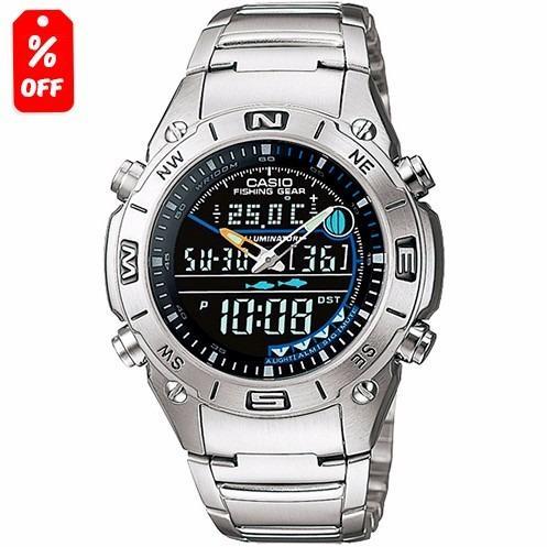 5f24ad15e2ee Reloj Casio Outgear Amw703 Metal - Fases Lunares Cfmx en Gustavo A ...