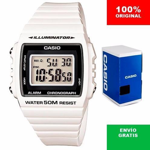 9d752be4e94c Reloj Casio W215 - Blanco Con Negro - 100% Original Cfmx en Gustavo ...