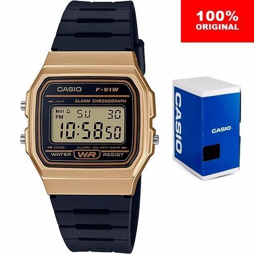 fd4b727e2dcb Reloj Casio Clasico F91 Vintage Dorado Original Envío Gratis en ...