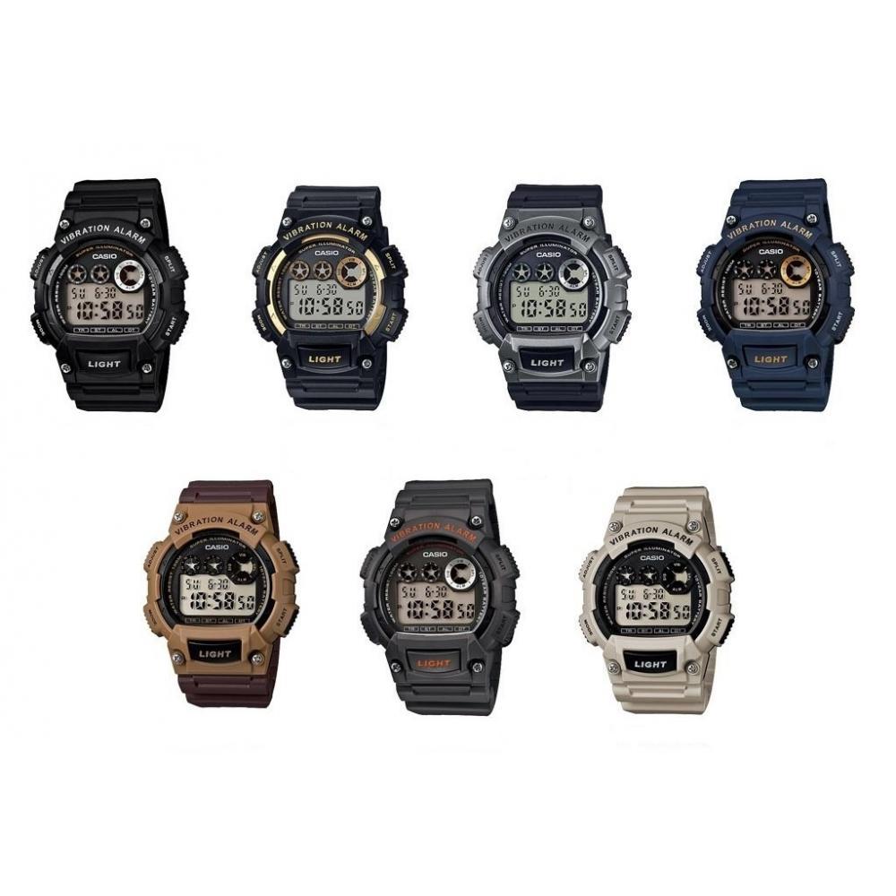 Cfmx Caballero Alarma Casio Vibratoria Reloj Gris En W735 vmwN80On