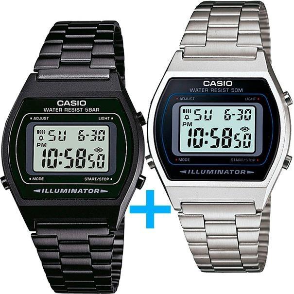 3cfdd72631bf Reloj Casio B640 Negro Y B640 Plata - Paquete Especial - en Gustavo ...