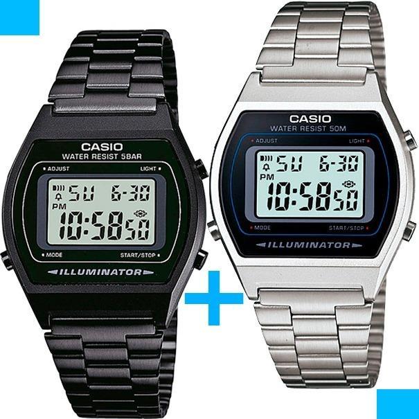 f9f1a3ab1631 Reloj Casio B640 Negro Y B640 Plata - Oferta X 2 Piezas en Gustavo A ...