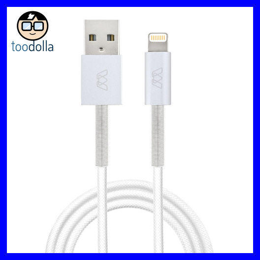 If you are looking MOS Spring Charge and Sync Lightning Cable, Aluminium heads & woven cable, White you can buy to toodolla, It is on sale at the best price