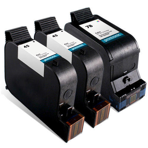 3pk BLACK COLOR Ink Cartridge for HP 45//78 51645A C6578DN