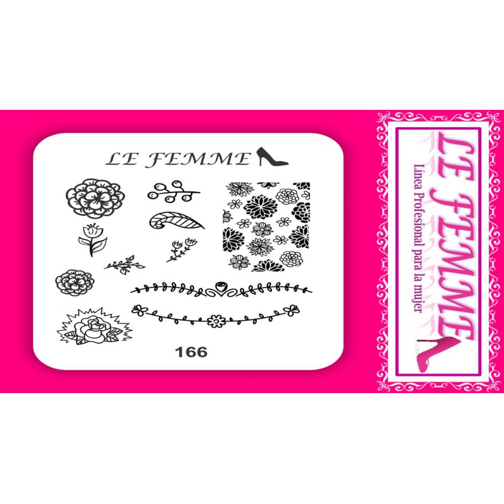 Si buscas Placa Stamping Acrilico Lefemme Mod166 Local Flores puedes comprarlo con LEFEMMEFLORES está en venta al mejor precio