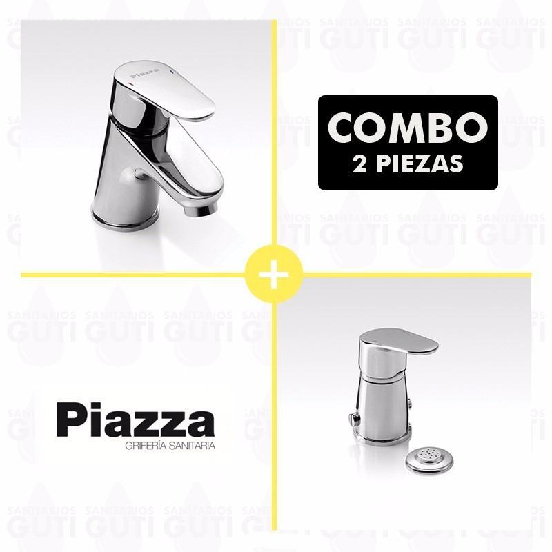 Si buscas Combo Set Grifería Baño Piazza Dot Lavatorio Bajo Y Bide puedes comprarlo con MATERIALESGUTI está en venta al mejor precio