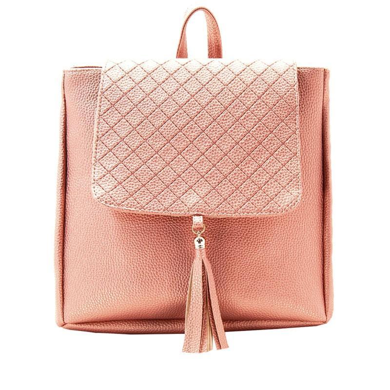 73d138882f0 Mochila Dama 3270 Oro Rosa Moda Bolso Mujer Bolsa Env Gratis en León ...